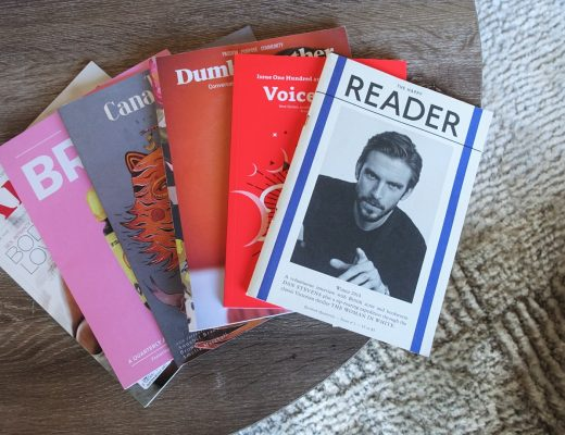 a collection of literary journals and magazines